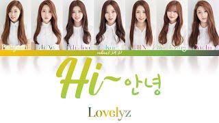 LOVELYZ (러블리즈) - Hi~ (안녕) (Color Coded Lyrics Han/Rom/Eng/가사…