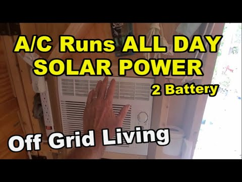 Air Conditioner Runs All Day Off Solar Panel, Solar Energy Projects for DIY
