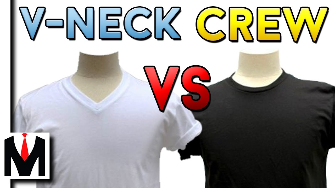 5f96132dda2a V Neck Vs Crew Neck T Shirt | Which One Is Better For Your Physique? -  YouTube