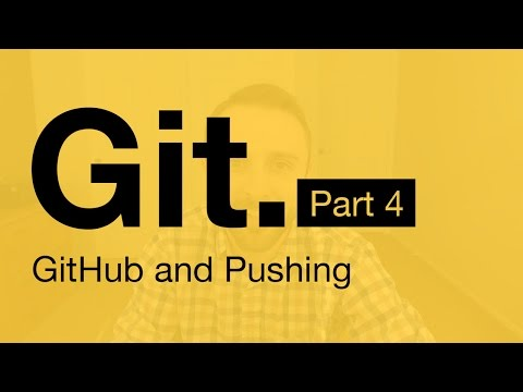 Git Tutorial Part 4: GitHub (Pushing to a Server)