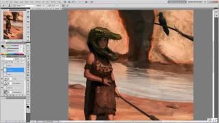 Character Design/Illustration Tutorial - Tribal Hunter (Full Length)