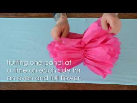 How To Assemble Tissue Paper Flower Pom Poms