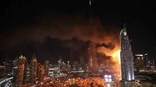 Fire at The Address Downtown Dubai 2016 !