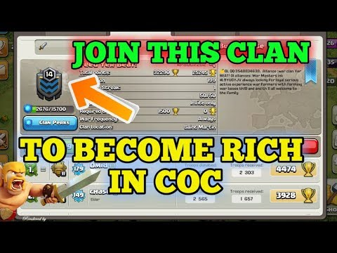 COC {Join this clan to be the millionaire in coc}..