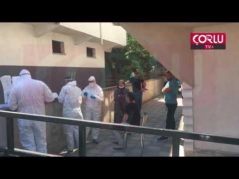 Çorlu'da Vaka Görülen Sokakta Vatandaşlara Koronavirüs Testi Yapıldı