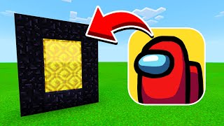 How To Make a Portal to the AMONG US Dimension in Minecraft PE (Among Us Portal in MCPE)