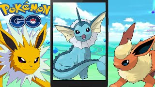 Legendary VAPOREON JOLTEON FLAREON w/ Epic Pokemon Go Gym Battle