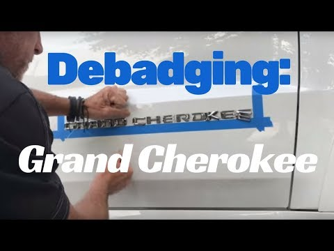 Debadge Car: Jeep Grand Cherokee Car Emblem Removal And Replacement
