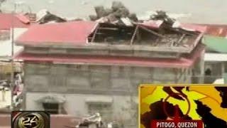 24Oras: Ilang lumang istruktura sa Quezon, naapektuhan ng bagyo