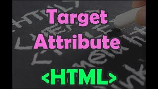 HTML | Chapter 6 | Links: Target Attribute