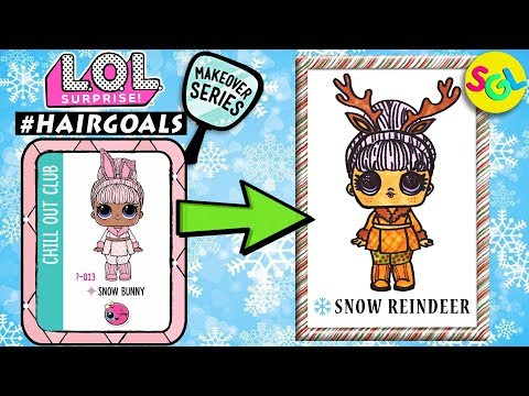 How to Draw & Color LOL Snow Bunny to Reindeer: LOL Surprise Hair Goals Makeover Series 5 Color Page