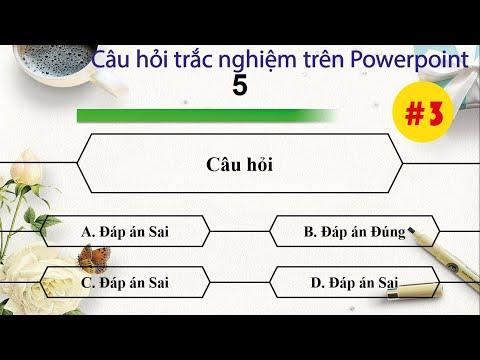 Cách thiết kế câu hỏi trắc nghiệm đơn giản - đẹp mắt trên Powerpoint Đồng hồ đếm ngược Van Pham Cong