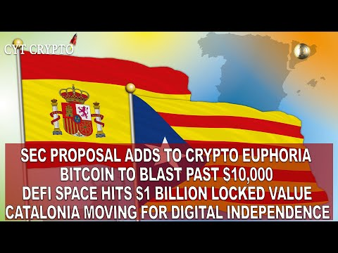 SEC Adds To Crypto Euphoria - BTC To Shoot Past $10,000 - ETH Keeps On Going- Catalonia Independence