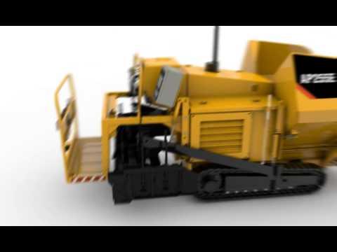 Cat® AP255E Center Paving Animation