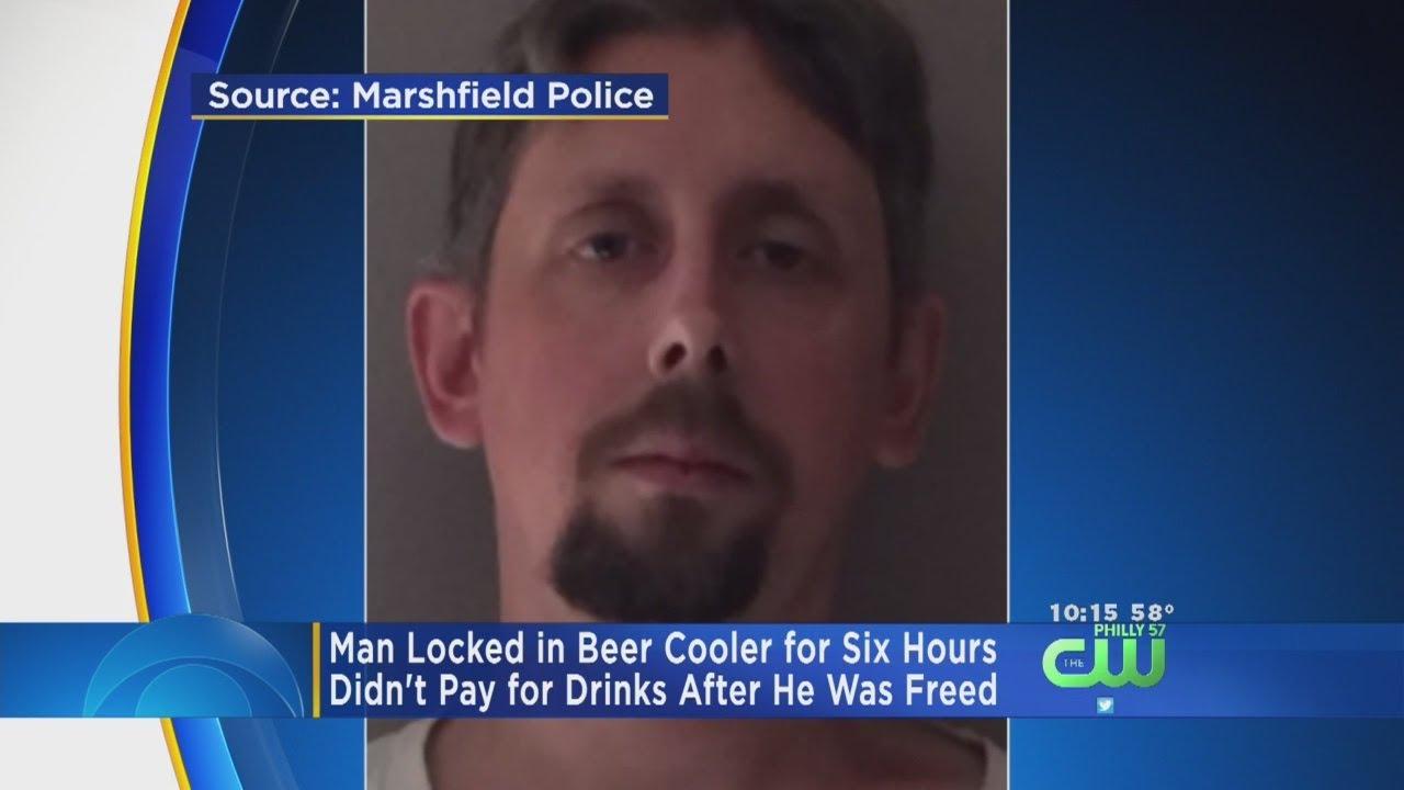 Man gets locked inside store's beer cooler overnight, starts drinking