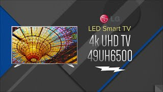 LG 49 Silver UHD 4K LED HDR Smart HDTV WebOS 3.0 49UH6500 - Overview