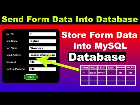 13. How To Send Store HTML Form Data Into Database, PHP Tutorial For Beginners