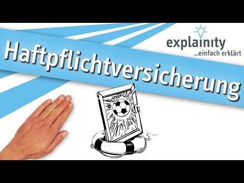 Die Haftpflichtversicherung Einfach Erklärt (explainity® Erklärvideo)