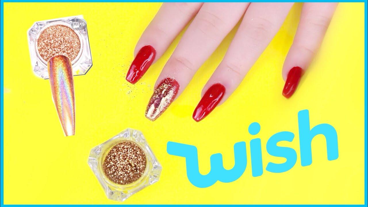 Testing Nail Art Stuff From Wish Youtube
