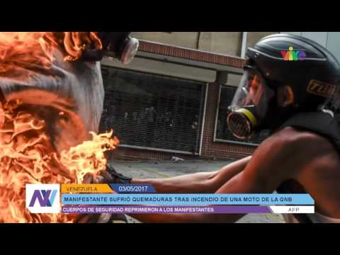 Represión este 3 de mayo dejó un arrollado con tanqueta en Caracas