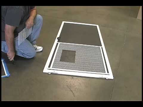 how to install a dog door in a screen door 2