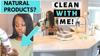 Natural Cleaning Products Review & Clean with me | Kitchen Cleaning Motivation