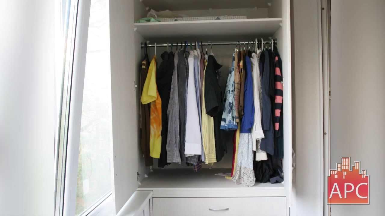 Шкафы на лоджию под одежду.