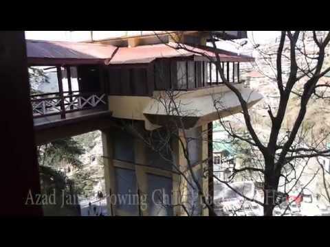 Lifts video to go to Mall Road, Shimla, Himachal Pradesh, India