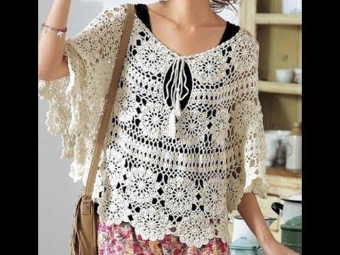 6e86c3c1a1422 Tığ işi örgü bluz ve yelek modelleri & Crochet - YouTube