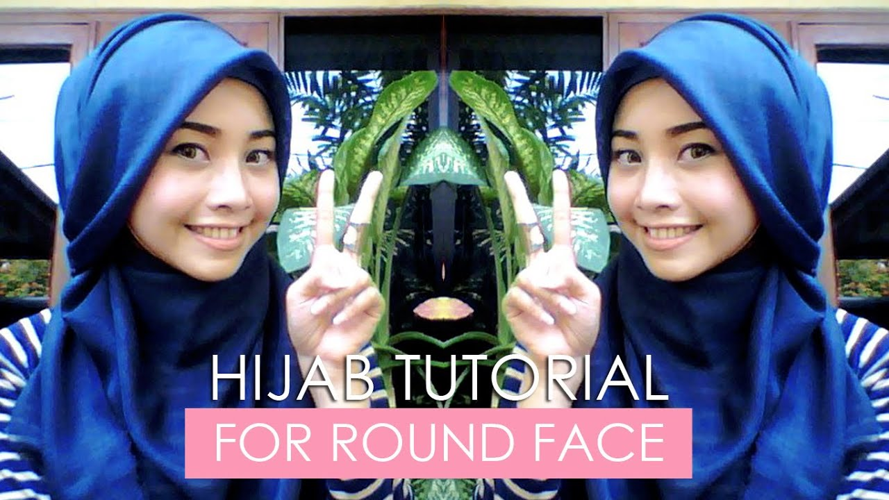 HIJAB SQUARE TUTORIAL FOR ROUND FACE TUTORIAL JILBAB WAJAH