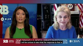 Carolyn Maloney USPS Red and Blue Interview (CBS News)