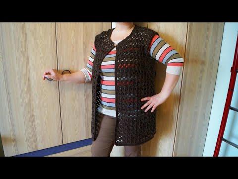 Вязание жилеток для женщин крючком видео
