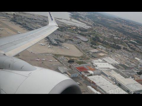 4K Ryanair Boeing 737-800 flight video, Marseille to Stansted - FR6542