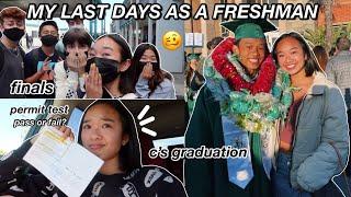 my last days AS A FRESHMAN | finals, permit test, c's graduation, & more! Nicole Laeno