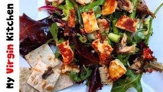 Grilled Halloumi & Herring Summer Salad Recipe MYVIRGINKITCHEN