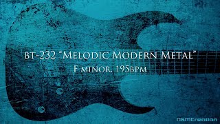 Melodic Modern METAL Backing Track in Fm   BT-232