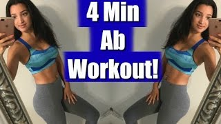 4 MIN AB WORKOUT | Quick Core Circuit Training | FULL WORKOUT