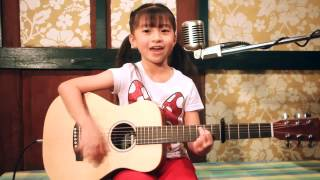 Leaving on a jet plane  Guitar Acoustic Cover by Gail Sophicha 8 Years old.