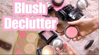 BLUSH COLLECTION & DECLUTTER | CONFESSIONS OF A MAKEUP HOARDER