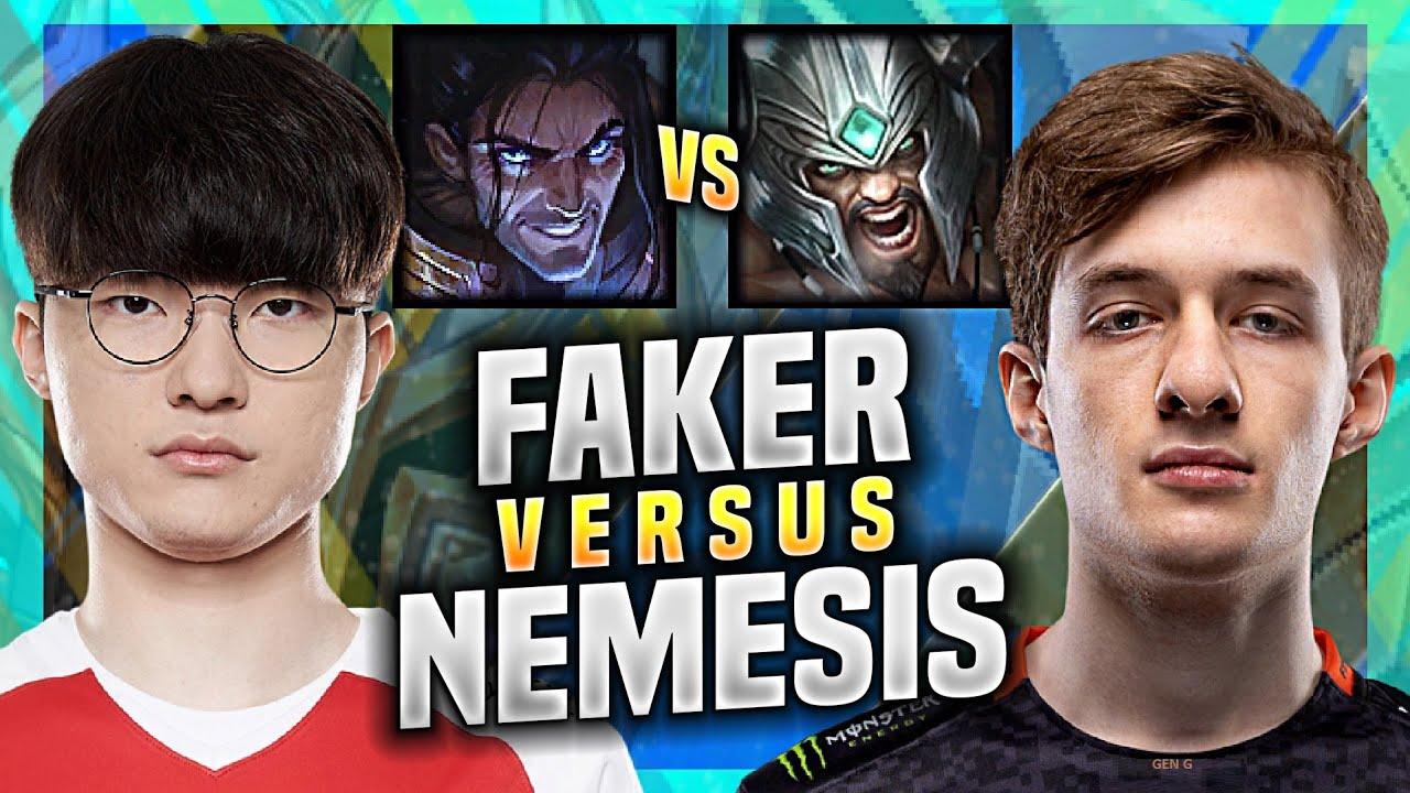 FAKER vs NEMESIS! - T1 Faker Plays Sylas vs Nemesis Tryndamere Mid! | KR SoloQ Patch 11.8