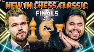 New in Chess Classic Finals Day 2 | Carlsen vs Nakamura | Live commentary Sagar, Amruta