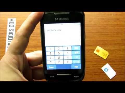 How To Unlock Samsung Corby II By Unlock Code From UnlockLocks.COM