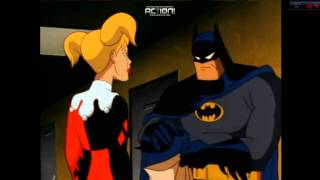 Batman The Animated Series Batman and Harley Quinn Kissing