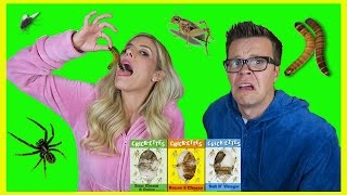 EATING DISGUSTING INSECTS WITH MY HUSBAND!