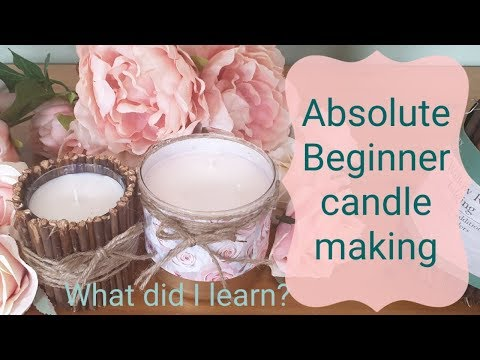 Candle making DIY for beginners