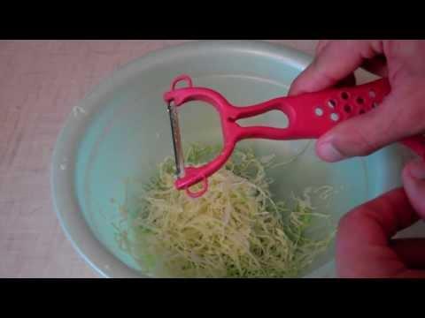 Как быстро нашинковать капусту для засолки видео