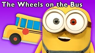 minions in real life   the wheels on the bus and more   baby songs from mother goose club