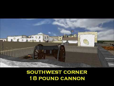 The Alamo Fort 1836 Before And After