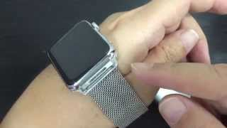 apple watch fake clone milanese loop unboxing and review