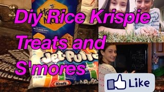 How To Rice Krispie Treats + Indoor S'mores
